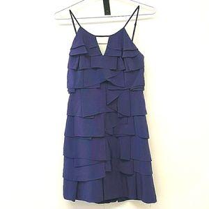 BCBG MaxAzaria Tier Ruffled Silk Dress